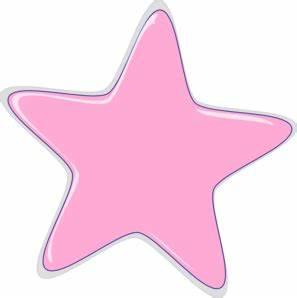 Pink Star Clip Art at Clker.com - vector clip art online ...