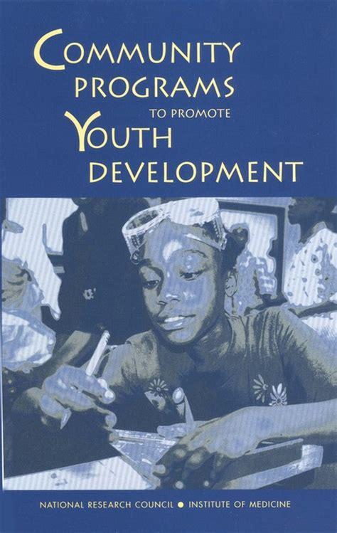 community programs  promote youth development