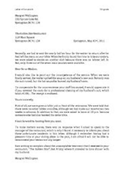 Letter of Complaint - Worksheet - ESL worksheet by michiblum