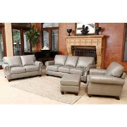 helena top grain leather sofa loveseat armchair and ottoman set sam s club