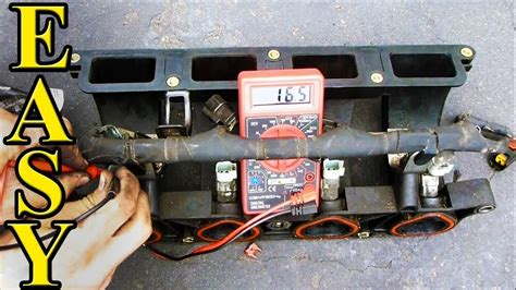 check fuel injector resistance   multimeter