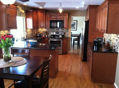 maple cognac kitchen cabinets new kitchen maple cognac cabinets we are homeowners 7346