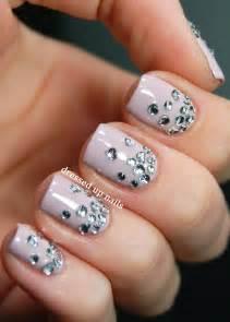 Nail art design rhinestones
