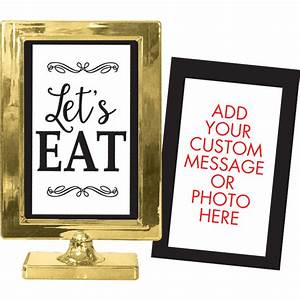 Gold, Table, Sign, 4in, X, 6in