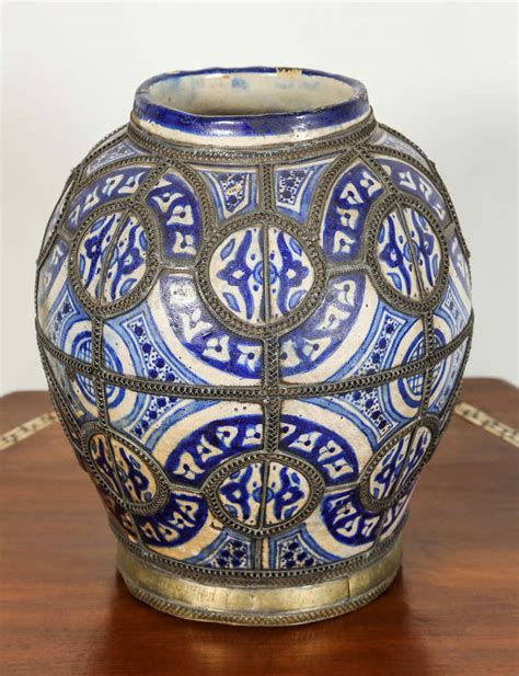 Moroccan Vases by Antique Moroccan Ceramic Vase From Fez For Sale At 1stdibs