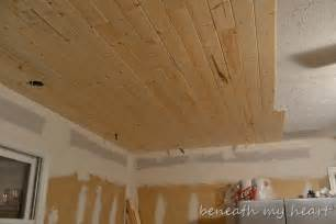 Drop Ceilings In Basements Pictures by Sneak Peek Of Our Wood Ceiling And A Christmas Guest Post