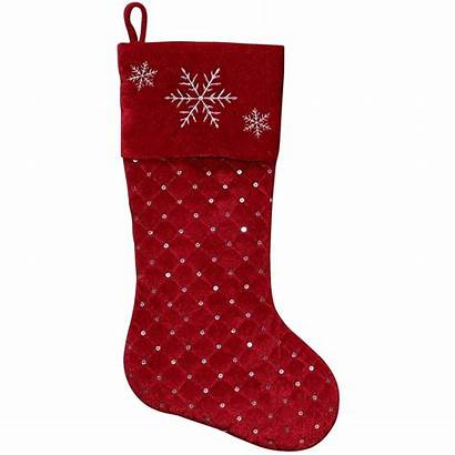 Christmas Stocking Velvet Holiday Quilted Decor Walmart