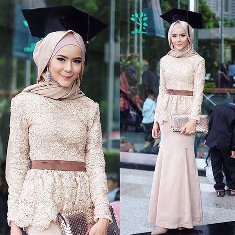 model kebaya wisuda hijab modern cantik favorit mahasiswi
