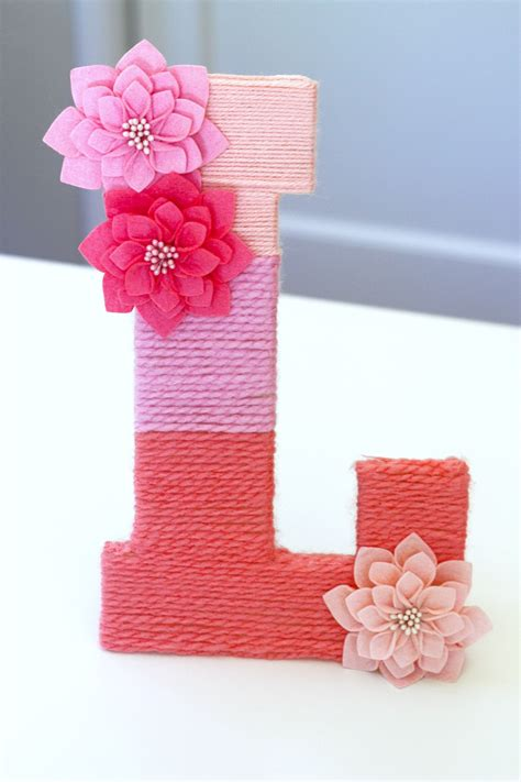 easy yarn wrapped ombre monogrammed letter catch  party