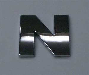 chrome letter 39n39 car badge uk With large chrome letters