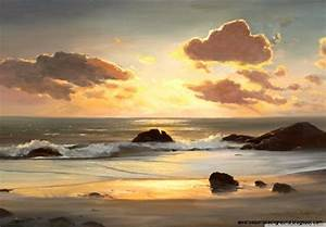 Beach Painting Picture Wallpaper | Wallpapers Background