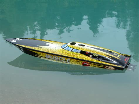 Remote Control Car Boat by Fountain Racing 42 Love Muscle Remote Control Boat