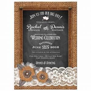 country wedding invitation burlap chalkboard leather With country house wedding invitations
