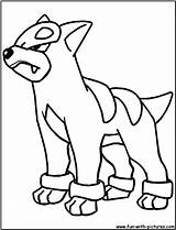 Houndour Coloring Pokemon Houndoom Mega Colouring Fun Printable Searches Recent sketch template