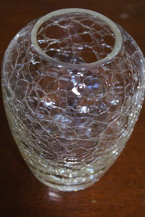 17 Best ideas about Crackle Glass on Pinterest   Vases