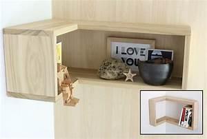 Equerre Etagere Bois : etagere murale bois castorama ~ Premium-room.com Idées de Décoration