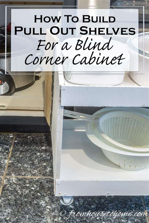 how to build pull out shelves for kitchen cabinets how to build pull out shelves for a blind corner cabinet 9884