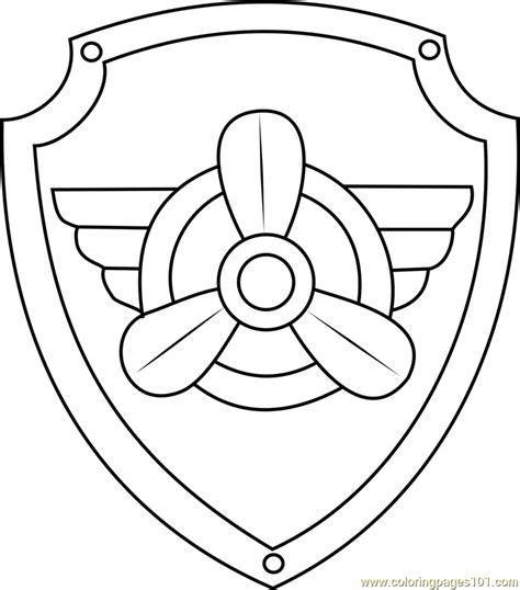 paw patrol badge template paw patrol badge coloring coloring pages