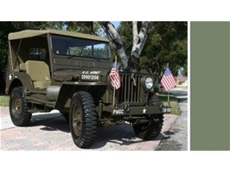 military jeep willys for sale 1952 willys military jeep for sale classiccars com cc
