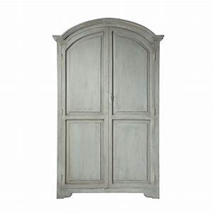 mango wood wardrobe in pearl grey w 130cm saint remy With armoire maison du monde