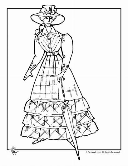Coloring Victorian Pages Doll Adult Dolls Woman
