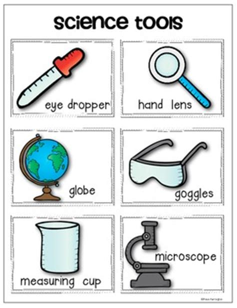 science tools vocabulary cards and anchor chart pack for