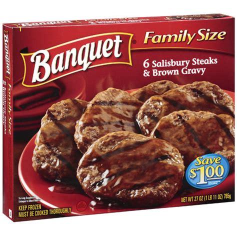 banquet 6 salisbury steaks brown gravy entree 27 oz