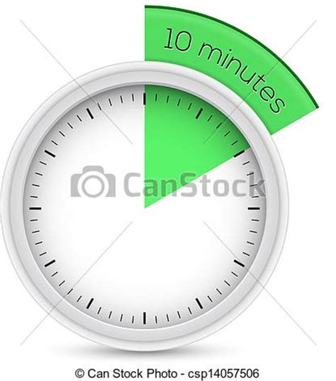 Stopwatch 10 Minutes Timer Vector Illustration Of 10 Vector Clipart  Search Illustration