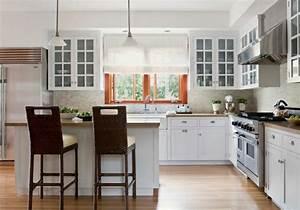 cuisine en l moderne avec ilot en 108 photos magnifiques With salle À manger contemporaine avec ilot cuisine gris