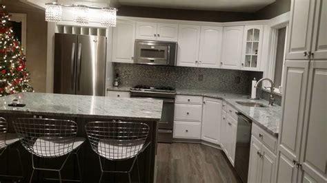 chairs for kitchen island viscont white granite modern kitchen newark by