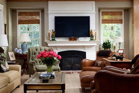 tv above fireplace design ideas