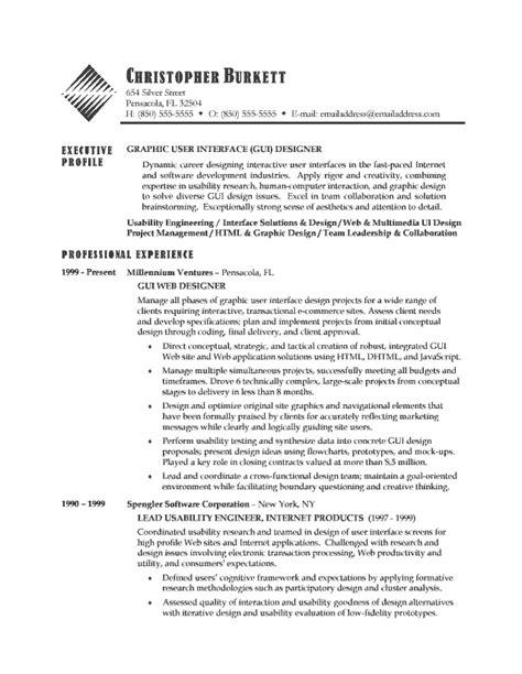 Sle Resume For Marketing Professionals by Ui Design Resume Sales Designer Lewesmr