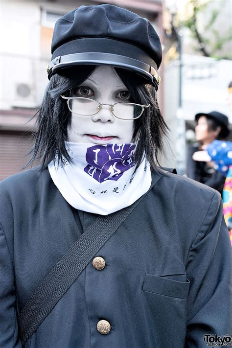 Shironuri Wearing Japanese School Uniforms in Harajuku ...