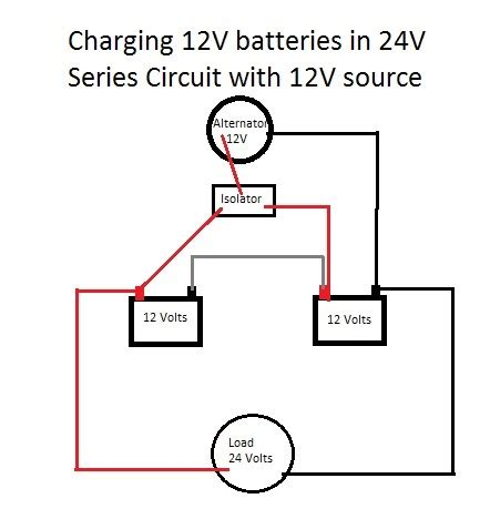 charging 24v battery with 12v alternator and isolator motor vehicle maintenance repair stack