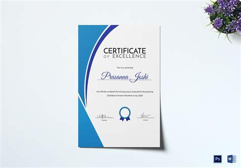 marathon training certificate design template  psd word