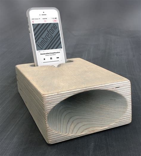 timbrefone coastal wood phone speaker features iphone