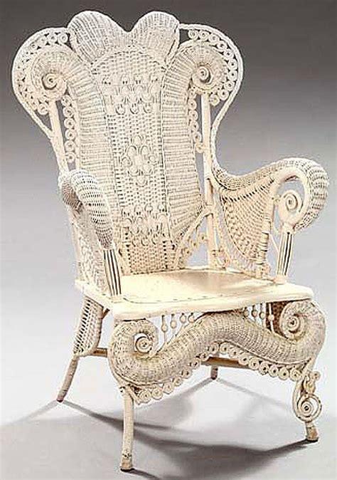 furniture wicker rocking chair beaded