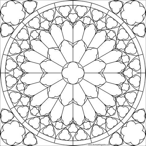 Flowers Drawings Inspiration : Mandala Flower Coloring Pages | Don ... | 474x474