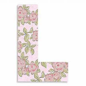 "Buy Pink Roses On Pink Background Hanging Letter ""L"" from ..."