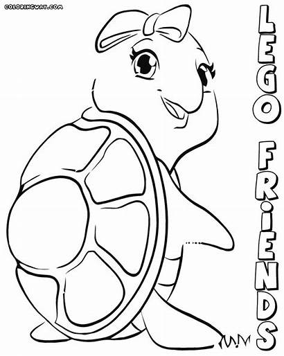 Lego Coloring Friends Pages Printable Colouring Turtles
