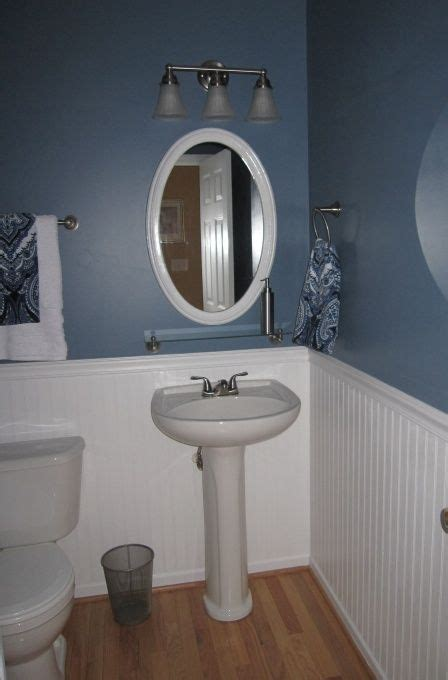 Bathroom Beadboard Installation by Half Bath Pedestal Sink Beadboard Wood Floors Half