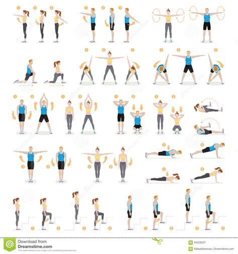 esercizi aerobici da fare in casa forma fisica di allenamento della donna e dell uomo