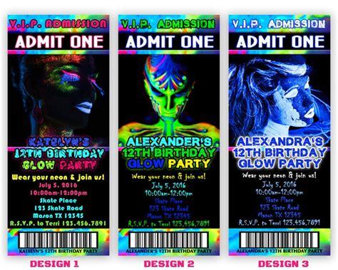printable glow party invitation glow