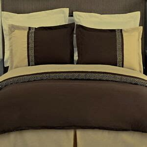 Chocolate Brown Duvet Covers by Modern Key Chocolate Brown Gold Embroidered Duvet