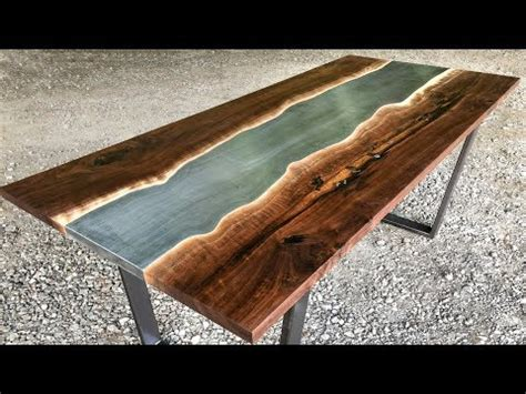 Live Edge River Table  Woodworking Howto Doovi