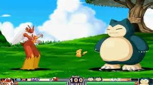 pokemon as street fighter style fighting game