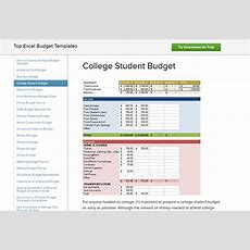 Free Budgeting Templates & Resources For College Students