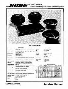 Bose 1401 Ii Service Manual  Service Manual  Repair Schematics