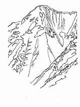 Coloring Mountains Mountain Bears Nature Ausmalbilder Berge Hemlock Printable Malvorlagen Ausdrucken Kostenlos Zum sketch template
