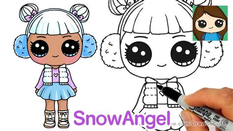 draw snow angel lol surprise doll cumseface